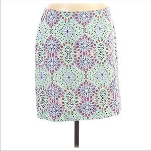 2FOR15 🌴 Talbots Stained Glass Print Skirt